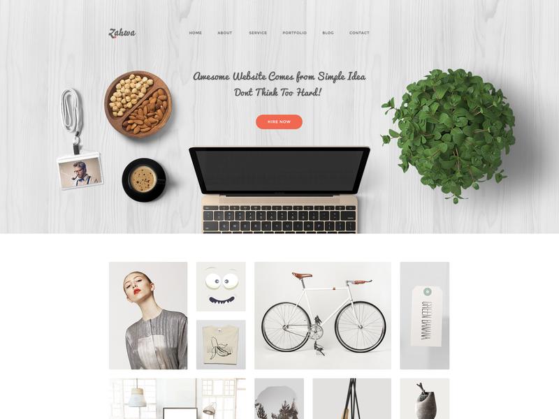 Zahwa Homepage light web design minimalist website homepage header website hero images header