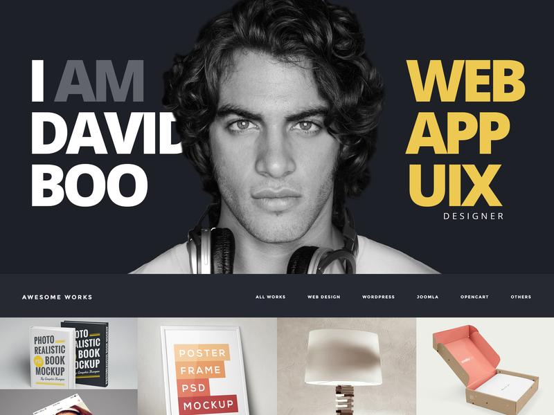 Personal Site Dark Style portfolio freelancer web design webdesign curriculum vitae cv resume personal