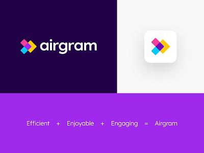 Airgram Logo design system identity brand visual identity brand guideline vis vi brand saas logo logo color color logo logo design design saas branding logo