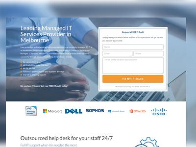 Landing Page Design For IT Services Provider elementor landing page design