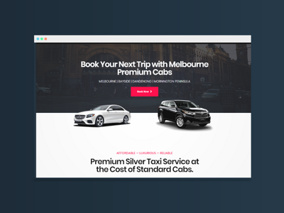 Landing Page Design For A Taxi Company ux elementor landing pages landing page landing page design