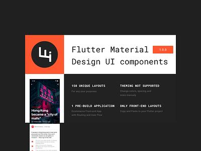 Flutter Material  Design UI components flutter ios app design android app design material design material material ui materialdesign