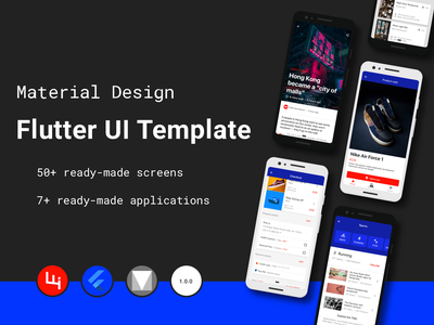 Multipurpose Flutter Template based on Material Design ios app design material android app design mobile design mobile app design mobile ui uiux material design materialdesign material ui flutter