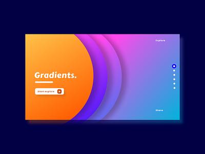 Concept gradient webpage - section design minimal typography logo graphic design website web ui uiux ux branding
