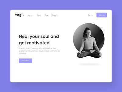 Yoga website Landing page illustration typography minimal graphic design design branding website web ux uiux ui