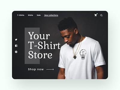 Fashion store landing page design illustration typography minimal graphic design design branding website web ux uiux ui