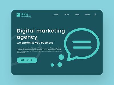 Digital marketing website landing page designs logo vector illustration design branding website web ux uiux ui