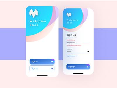 Finance App Sign In Screens | Ui design designs animation icon app illustration design branding website web ux uiux ui