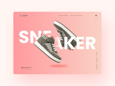 Concept landing page for sneaker store graphic design typography ui design app design web design webdesign userinterface uiuxdesign minimal ux website web uiux ui