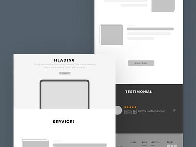 New website project wireframe typography minimal illustration design branding website web ux uiux ui