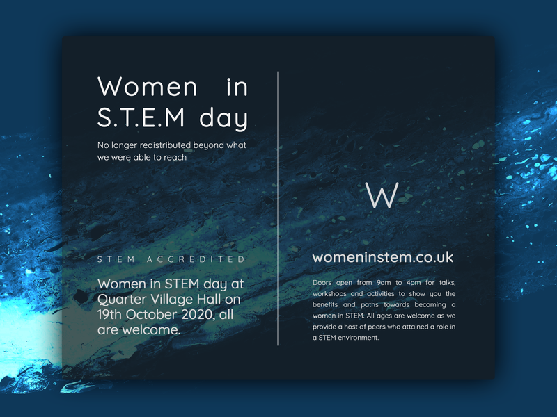 Poster: Women In Stem - Dark Blue sara torkmorad jozavi oil painting adobe photoshop print design stem poster