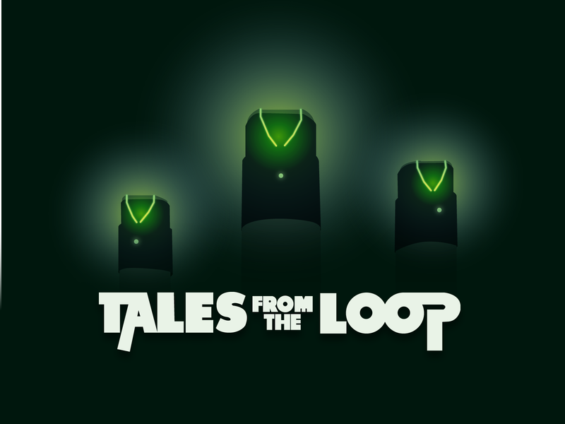 Tales From The Loop minimal simple design poster art watching tales from the loop amazon tv series tv show illustrator illustration playoff title