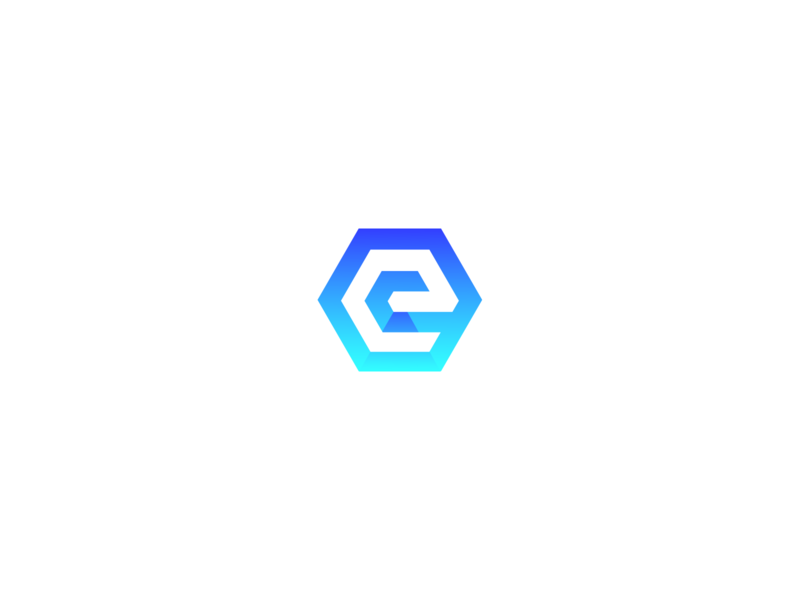 Mockup: Encocam Decal Logo hexagon adobe photoshop engineering logo rebranding encocam blue vector graphic branding logo adobe illustrator
