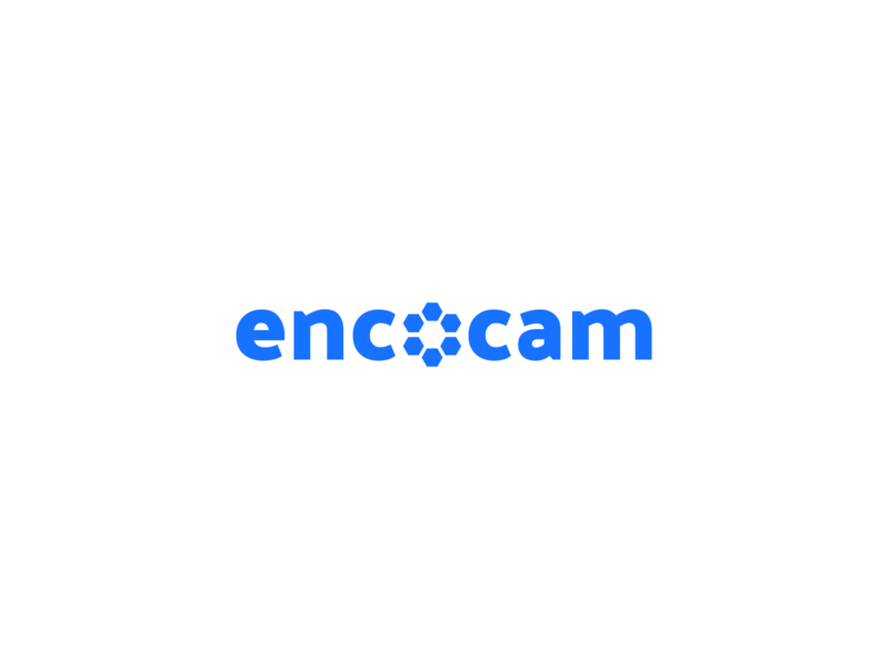 Mockup: Ecocam Text Logo engineering logo ecocam text logo logo vector design graphic blue vector rebranding branding adobe illustrator adobe dimension adobe photoshop