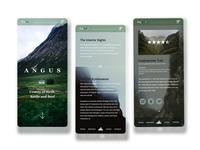 Explorer - Angus Mobile Site adobe xd web ux ui adobe photoshop web design design branding