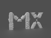 Playoff-MX-Logitech-Lettering : no materials 3d art controller prototype robot 3d adobe dimension playoff mx icon typography logo design branding