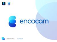 Mockup: Encocam v2 Spread blue rebranding mockup encocam icon illustration logo affinity designer vector design branding