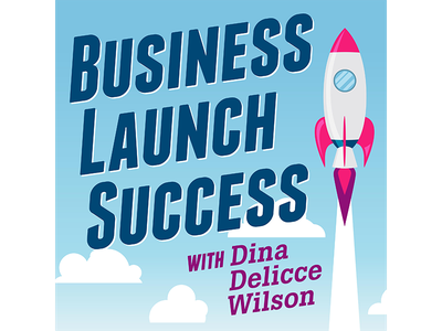 Business Launch Success identity business success rocket illustration podcast clouds