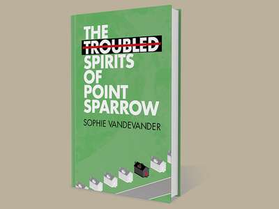 Point Sparrow cover horror novel futura type indesign illustrator houses book cover
