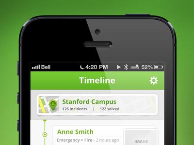 iPhone timeline app
