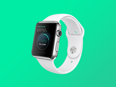 Robinhood for Apple Watch apple watch smart watch app trading stocks robinhood green glance wearables
