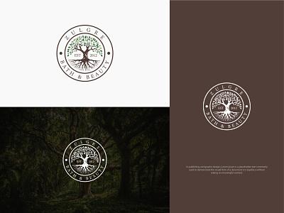 ZULGRE BATH & BEAUTY creative logo illustration abstract tree logo tree logos logodesign design logo logo design brand identity