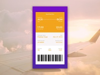 Boarding Pass #dailyui challenge 24