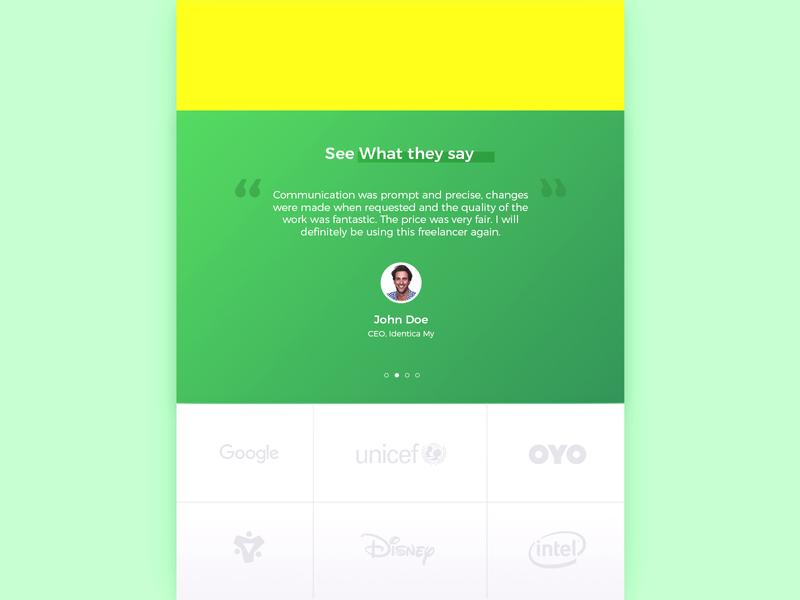 Testimonial #dailyui chellenge 39 uiux daily ui ui app design graphic design ux