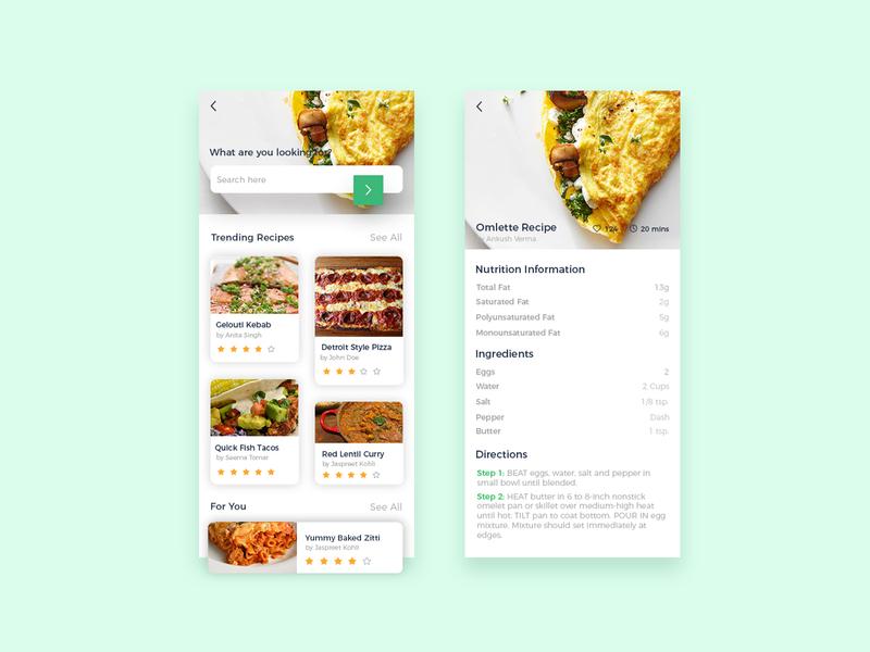 Recipe #dailyu challenge 40 daily ui ui graphic design ux app design