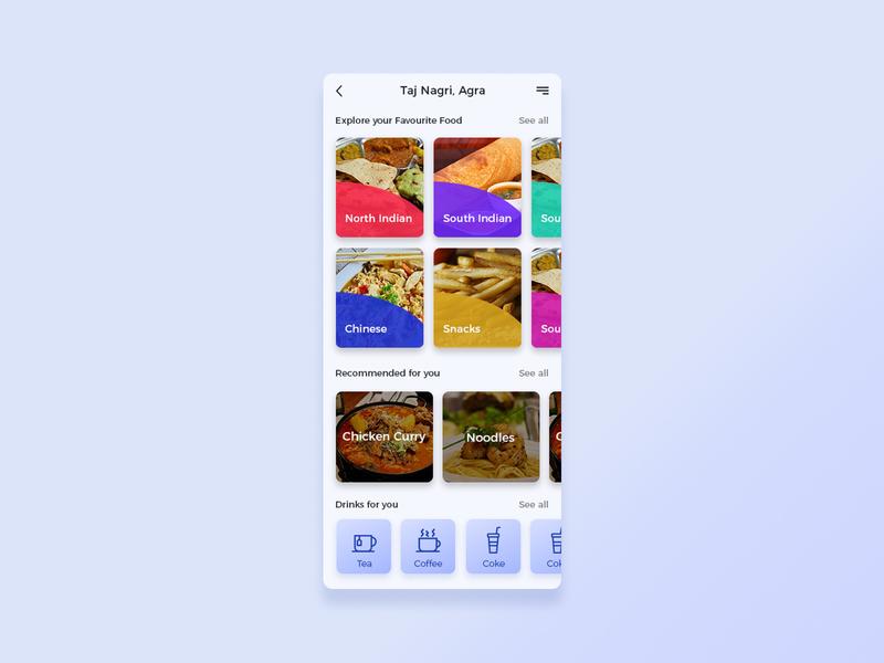 Food/Drink Menu #dailyui challenge 43 graphic design illustration uiux daily ui ui ux app design