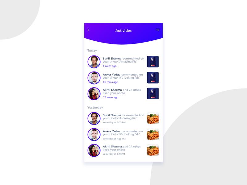 Activity Feed #dailyui challenge 47 uiux daily ui ui graphic design ux app design