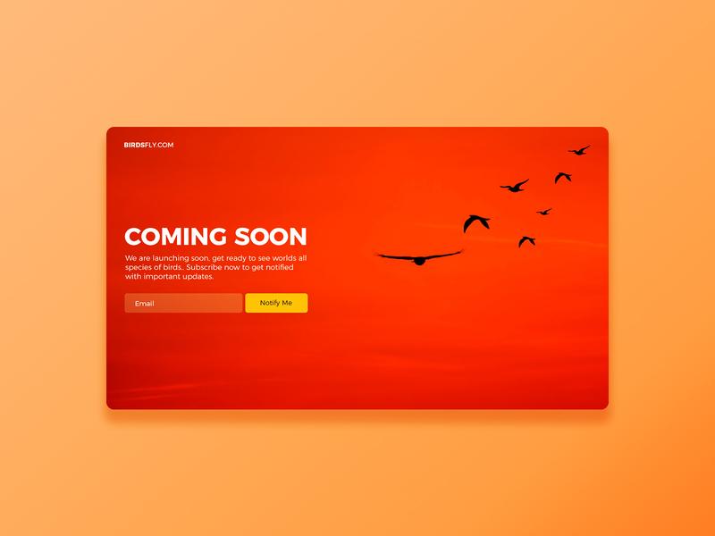 Coming Soon #dailyui challenge 48 uiux daily ui ui graphic design ux app design
