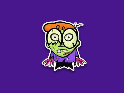 dexter zombi illustration design adobe photoshop graphic design