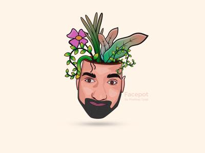 facepot vector illustration design adobe photoshop graphic design