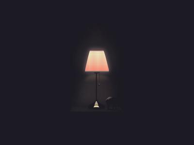 Table Lamp vector design illustration adobe photoshop graphic design