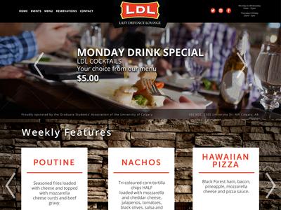 Last Defence Lounge website  ab calgary uofc yycbar bar slider webdesign web homepage