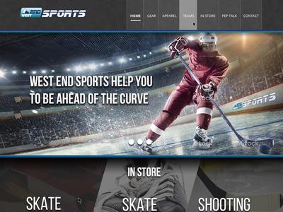 West End Sports Calgary website  clickspacetv clickspace ab calgary yyc slider webdesign web homepage