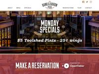 New Bank & Baron Pub Website