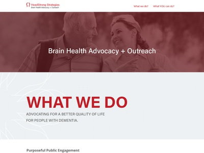 Headstrong Landing Page  red web website page landing