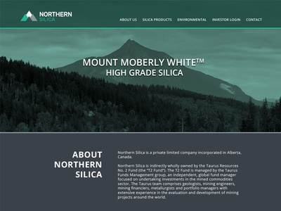 Northern Silica New website canada bc ab parallax new home website