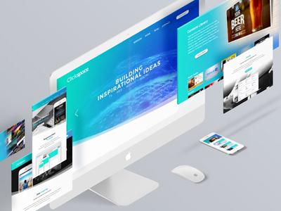 Clickspace Interactive New Website ab calgary gradient blue website redesign