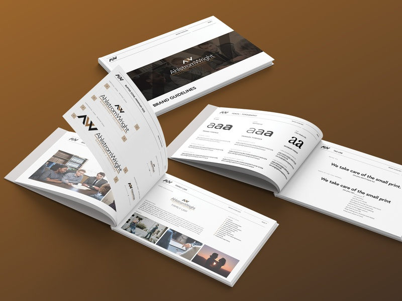 Branding book for lawyer firm guidelines lawer canada design branding ux identity logo