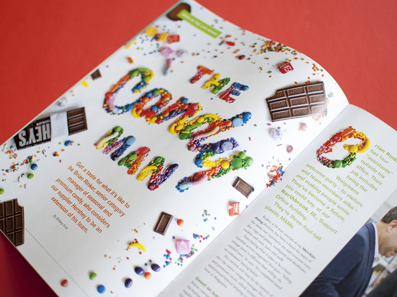 The Candy Man editorial corporate magazine walgreens chocolate skittles runts type food mms hersheys typography candy