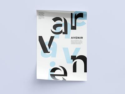 Design a typographic poster Avenir design graphic design font typeface