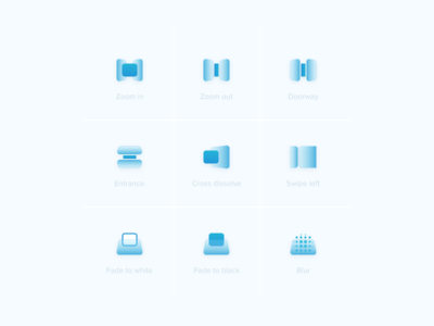 Video transition effects Icons