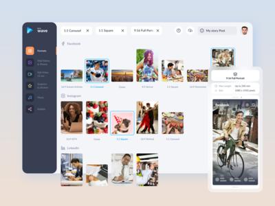 Online social video maker - formats selected