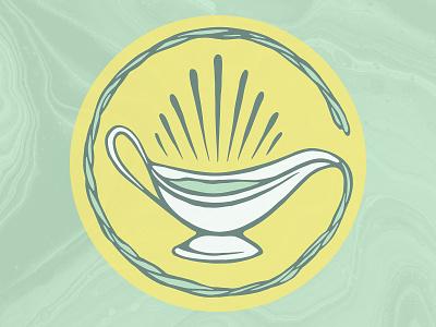 Green Gravy Brand Icon product design graphic design logo branding illustration