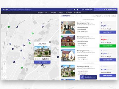 House | Concept Estate Agent real estate estate agent responsive web design ux ui user interface