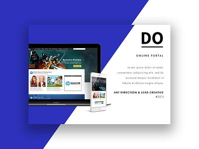 New Portfolio Design semplice simple clean disney u-i portfolio