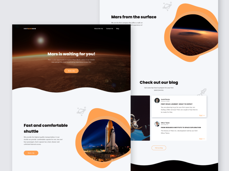 Mars landing dark mode website design web design web design ux ui landing landingpage webdesign website